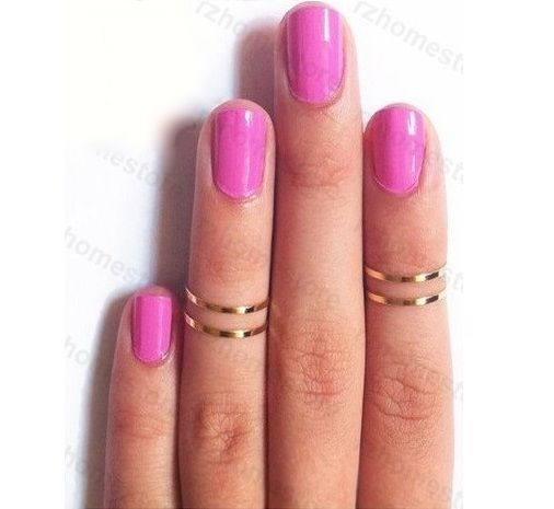 GOLD ABOVE THE KNUCKLE RING PLAIN SIMPLE FASHION MIDI RING 14mm 16mm x2 x3 x4 UK