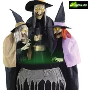 Halloween Wicked Stitchwick Animated Sisters Decorations with Sound