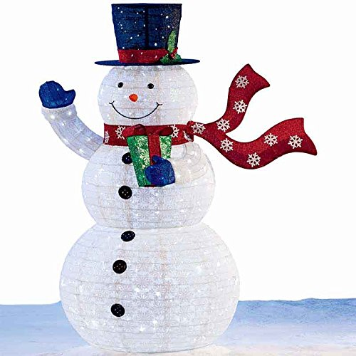 """72"""" (1.8 m) 210 LED Indoor/Outdoor Pop Up Snowman Christmas Decoration"""