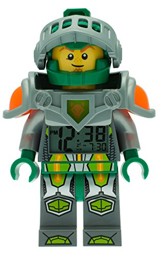 LEGO Nexo Knights Aaron Mini Figure Alarm Clock, Plastic, Multi-Colour