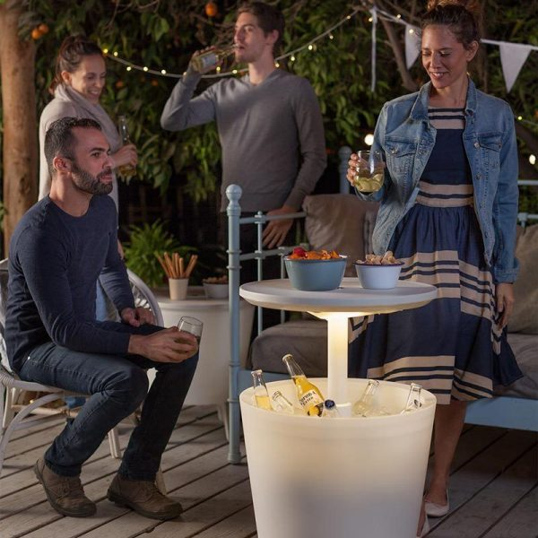 Keter 30 Litre Illuminated Coolbar indoor or outdoor as a drinks serving table
