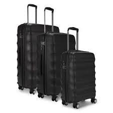 Antler Juno 3 Piece Suitcase Set in Black. Super Lightweight Technology