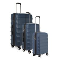 Antler Juno 3 Piece Suitcase Set. Multiple Colours! Super Lightweight Technology! A Must Have! (navy blue)