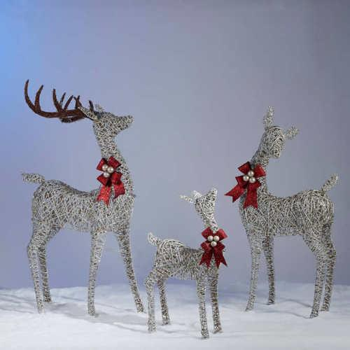 Deer Family Set of Three 3 Reindeer Christmas Indoor Outdoor 650 LED Lights Xmas
