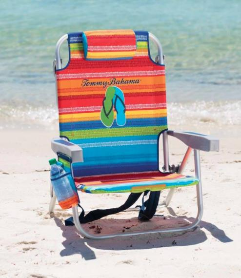 *NEW* Tommy Bahama Backpack Foldable  Beach Chair with Pocket Cooler