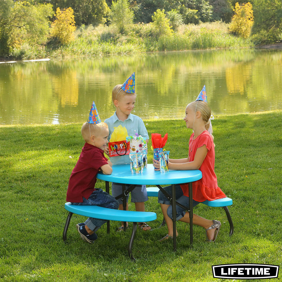 Lifetime Children's Oval Folding Picnic Table