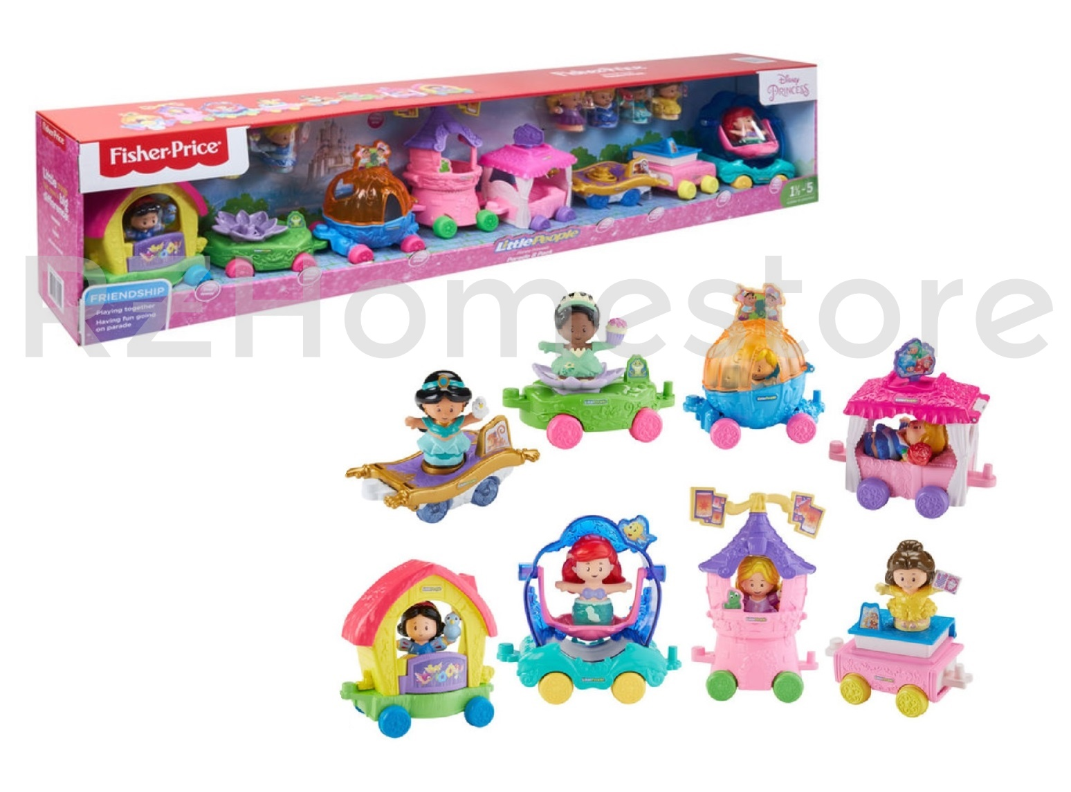 Fisher Price Little People Disney Princess Parade With 8