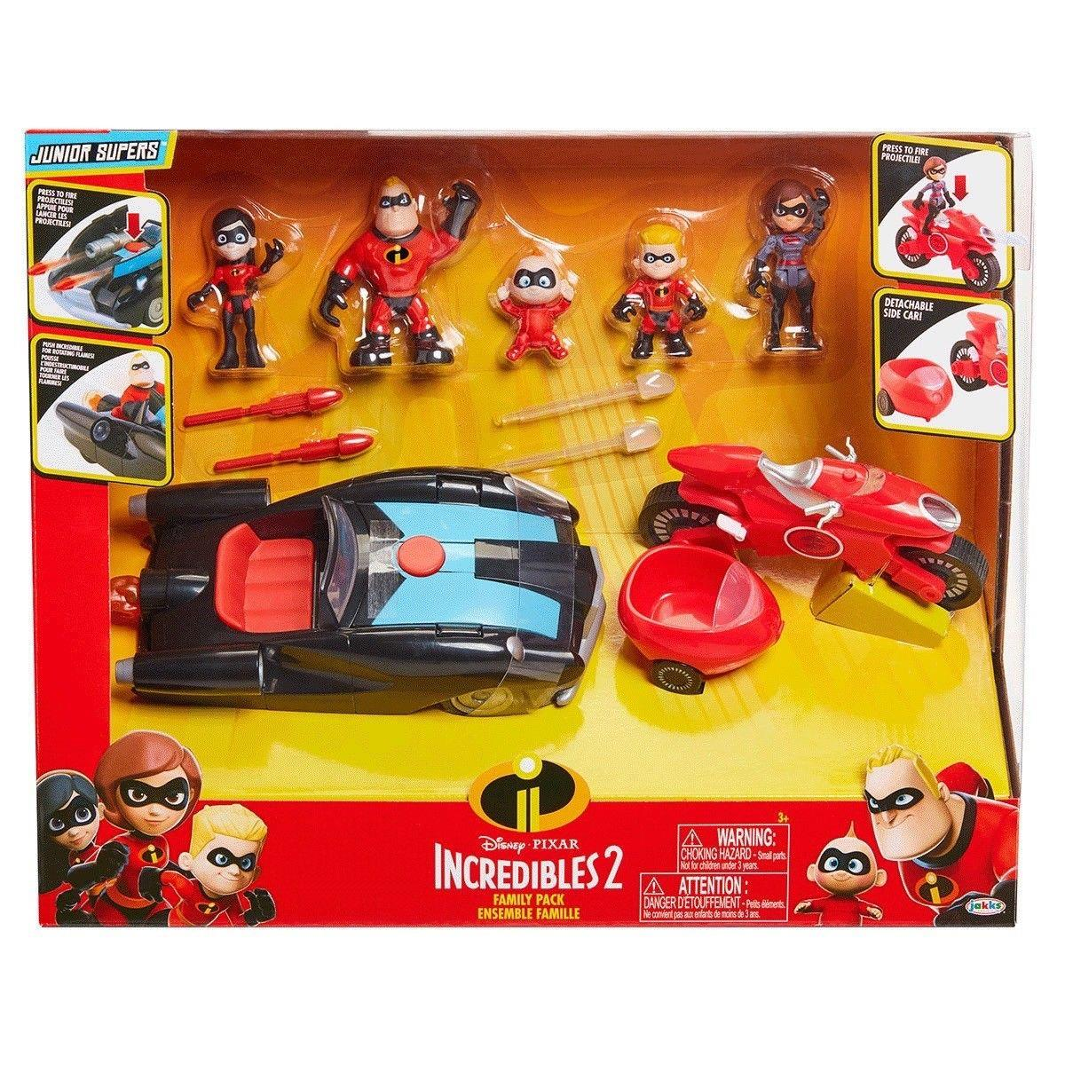 a085563adee Disney The Incredibles 2 Vehicle Set With 5 Figures Family Pack ...