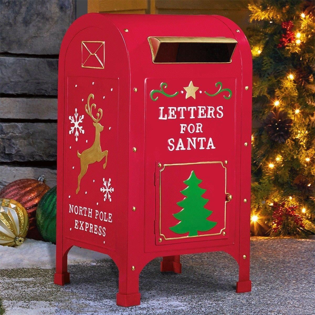 """23"""" (60cm) Letters For Santa North Pole Express Metal Mail"""