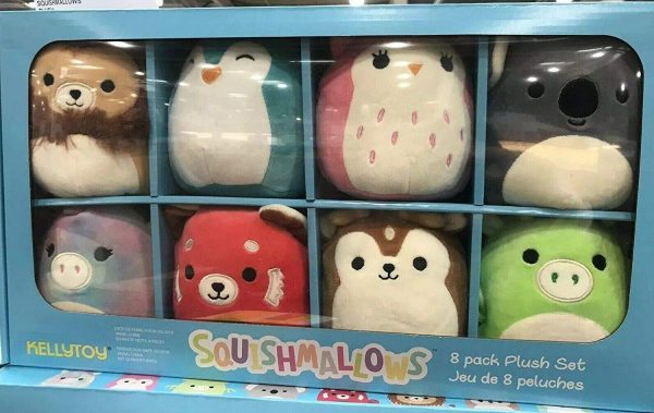 Squishmallows 8 Pack Plush Set, Washable Animals Huggable Pals 4.5?