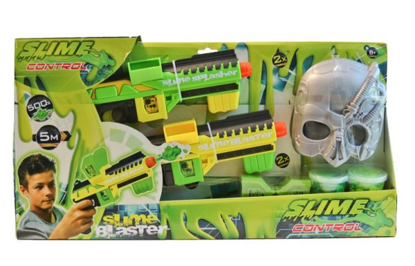 Slime Control Blaster 2 Pack With 2 Tubs Of Slime