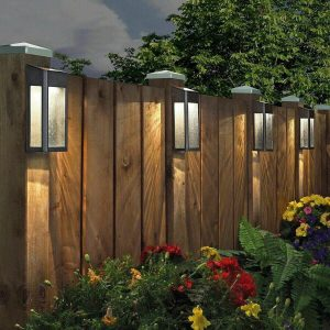 Paradise Solar LED Post Lights - 4 Pack Garden/Home/Deck/Garage/Patio Lighting