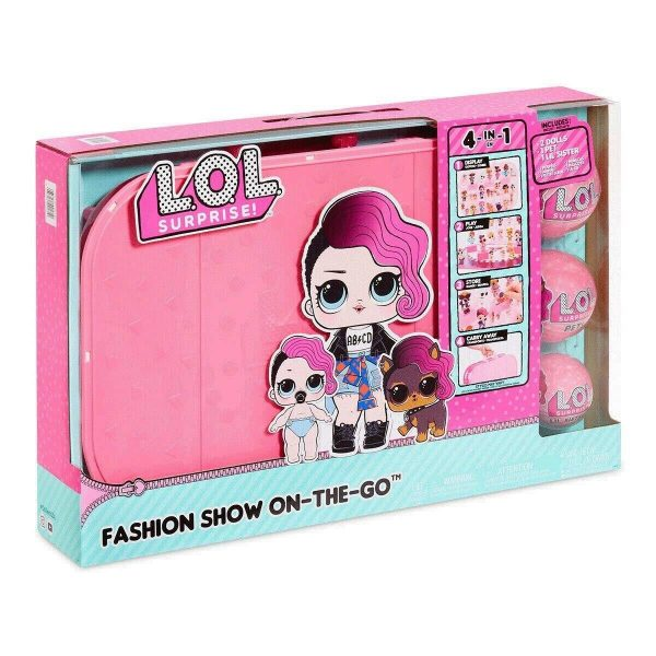 MGA L.O.L Surprise! Fashion Show On The Go Storage + 2 Dolls + 1 Pet + Lil Sister