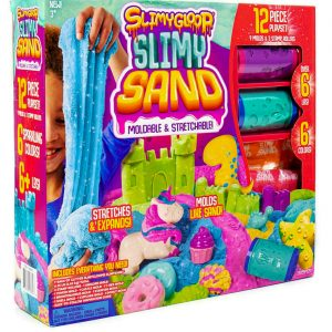 Slimygloop Slimy Sand Surprise 12 Piece Moldable, Stretchable Sand Set