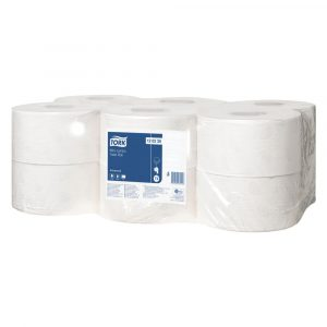 Tork Mini Jumbo Toilet Roll Advanced - T2 - 120238 - Pack of 12 Rolls