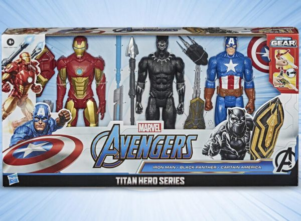 12 Inch (30.5 cm) Marvel Avengers Titan Heroes Blast Gear Collection 3 Pack