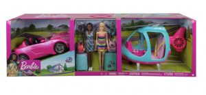 Barbie Girls Getaway Adventure with 2 Dolls, Helicopter, Convertible Car and Accessories