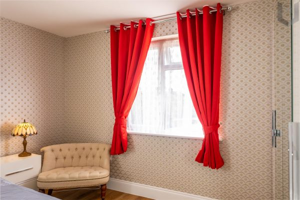 The London Linens Co® Blackout Curtains Thermal Insulated Soft Window Eyelet Curtains Window Treatment 2 Panels with Tie Backs