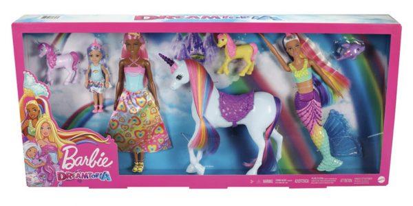 Barbie Dreamtopia Fairytale Mermaid Unicorn Dolphin Doll Gift Set